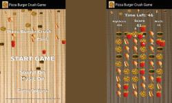 Pizza Burger Crush Game Free screenshot 2/3