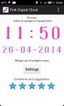 Pink Digital Clock screenshot 5/6