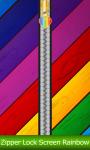 Zipper Lock Screen Rainbow screenshot 1/6
