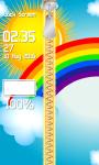 Zipper Lock Screen Rainbow screenshot 4/6