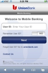 Union Bank Mobile Banking screenshot 1/1