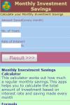 Monthly Investment Savings Calculator v1 screenshot 2/3