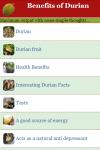 Benefits of Durian screenshot 2/3