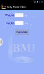 BMI app screenshot 1/3