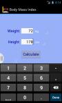 BMI app screenshot 2/3