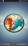 Colorful Smoke Clock LWP screenshot 1/6