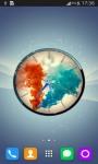 Colorful Smoke Clock LWP screenshot 5/6