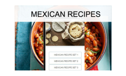 Mexican recipes food screenshot 1/3