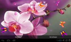 Blue Orchid Live Wallpaper screenshot 2/5