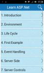 Learn ASP Net screenshot 1/3