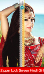 Zipper Lock Screen Hindi Girl screenshot 1/6