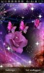 PURPLE ROSE BUTTERFLY LWP screenshot 1/3