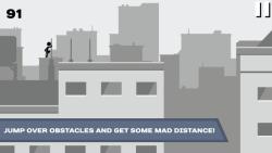 Stickman Rooftop Runner screenshot 1/4
