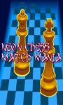 Neon Chess match mania game free screenshot 1/4