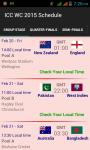 ICC World Cup 2015 Match Schedule screenshot 1/6