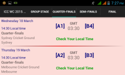 ICC World Cup 2015 Match Schedule screenshot 2/6