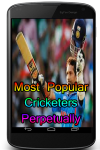 Most Popular Cricketers Perpetually screenshot 1/3