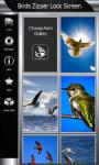 Birds Zipper Lock Screen Best screenshot 4/6