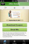 Mobile Coupons by CouponCabin for iOS screenshot 3/6