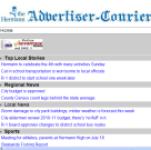 Hermann Advertiser Courier screenshot 1/1
