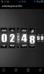 3D Rolling Clock widgets BLACK screenshot 2/6