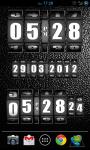 3D Rolling Clock widgets BLACK screenshot 5/6