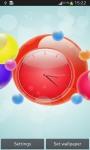 Bubble Clock Live Wallpaper screenshot 5/6
