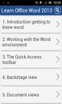 Learn MS Word 2013 v2 screenshot 1/2