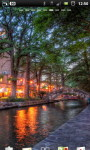 San Antonio Riverwalk Cafe Live Wallpaper screenshot 1/6