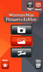 Woman Hair Flowers Editor screenshot 1/6