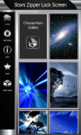 Stars Zipper Lock Screen screenshot 4/6