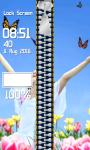 Zipper Lock Screen Butterfly screenshot 4/6