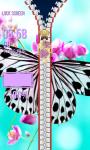 Zipper Lock Screen Butterfly screenshot 5/6