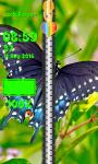 Zipper Lock Screen Butterfly screenshot 6/6