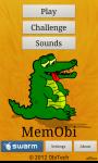MemObi - Fun Memory with Sound screenshot 1/5