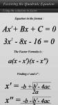 Easy Factoring a quadratic Equation screenshot 1/2