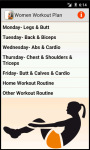 Women Workout_Plan screenshot 1/2
