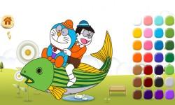 Doraemon coloring screenshot 2/5