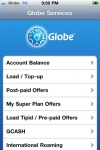 Globe Services for the iPhone screenshot 1/1