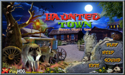 Free Hidden Object Games - Haunted Town screenshot 1/4