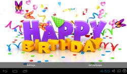 3D Happy Birthday Live Wallpaper screenshot 2/5