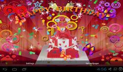3D Happy Birthday Live Wallpaper screenshot 3/5