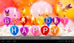 3D Happy Birthday Live Wallpaper screenshot 5/5