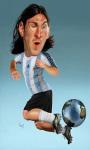 Lionel Messi Cartoon Wallpaper screenshot 1/2
