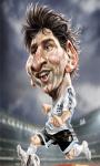 Lionel Messi Cartoon Wallpaper screenshot 2/2