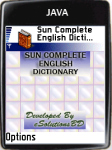 Sun Complete English Dictionary screenshot 1/1