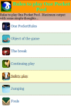 Rules to play One Pocket Pool screenshot 3/4