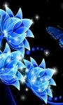 Blue Flowers Live Wallpaper screenshot 1/3