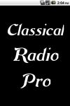Classical Radio  Pro screenshot 1/3