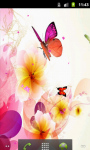 Colorful Butterfly Rose Live Wallpaper screenshot 1/5